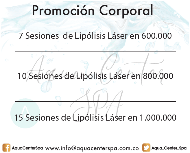 Promoción Enero Febrero 2018 Sesiones Lipólisis Láser por 1.000.000